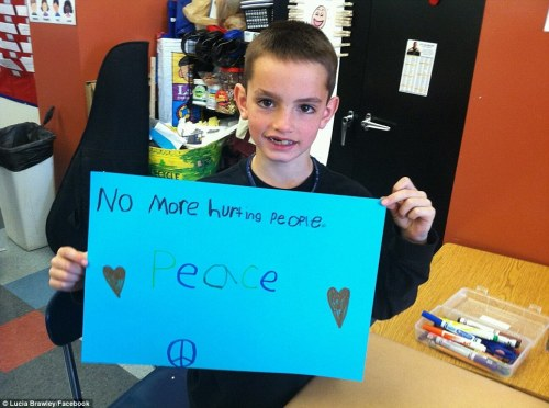 Poignant words from Martin Richard, may he rest in peace.