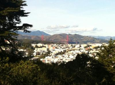 Golden Gate from Buena Vista with Ankit